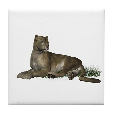 Gray Puma Tile Coaster
