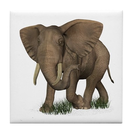 Elephant Tile Coaster