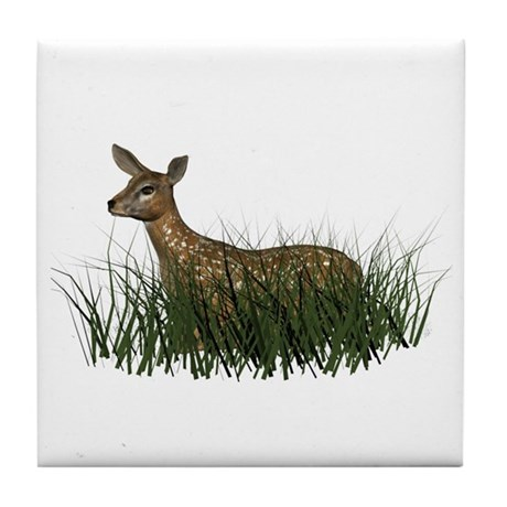 Deer (fawn) Tile Coaster