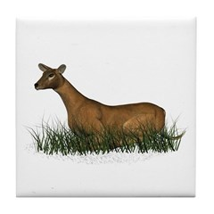 Deer (doe) Tile Coaster