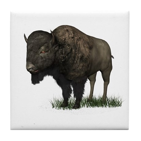 Bison (Buffalo) Tile Coaster