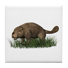 Beaver Tile Coaster