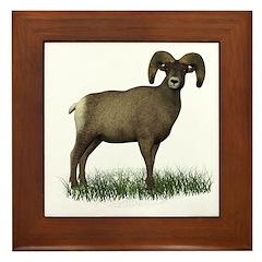 Big Horn Sheep Framed Tile