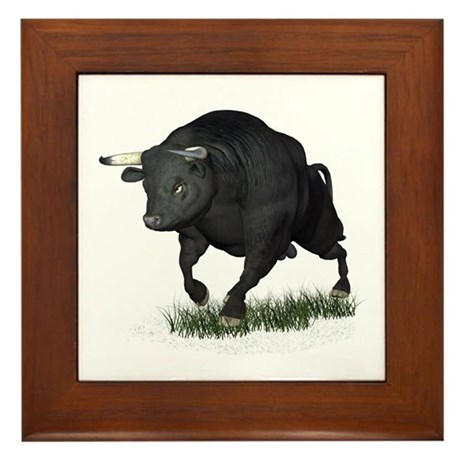 Bull Framed Tile