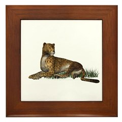 Cheetah Framed Tile