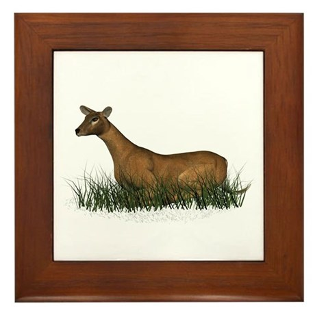 Deer (doe) Framed Tile