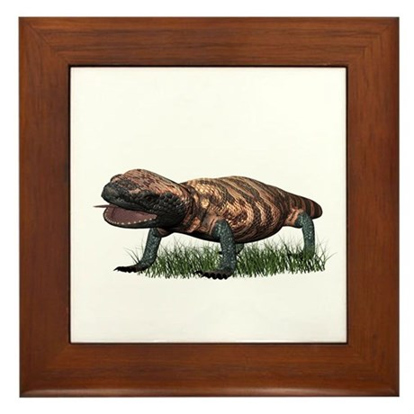 Gila Monster Framed Tile