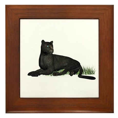 Black Leopard Framed Tile