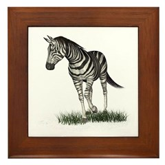Zebra Framed Tile