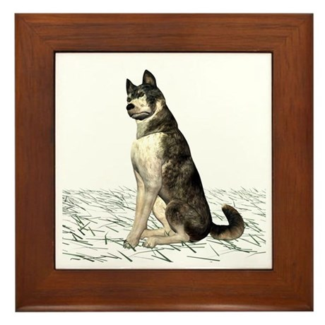 Grey Wolf Framed Tile