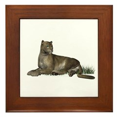 Gray Puma Framed Tile