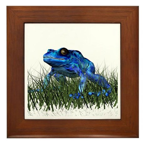 Poison Dart Frog Framed Tile