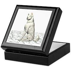 White Wolf Keepsake Box