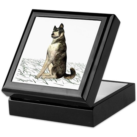 Grey Wolf Keepsake Box