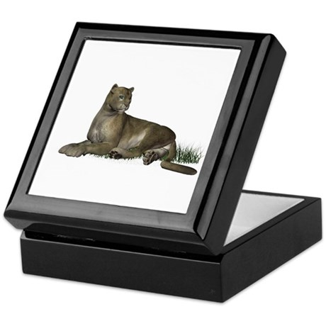 Gray Puma Keepsake Box