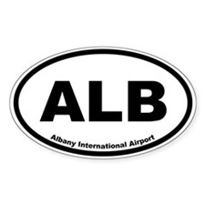 Albany International Airport Oval Decal