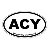 Atlantic City International Oval Decal