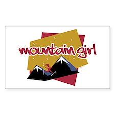 Mountain Girl Rectangle Decal