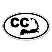 Cape Cod CC Map Oval Decal
