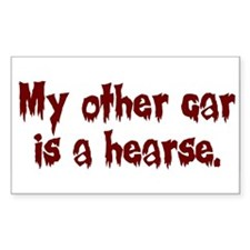 My Other Car is a Hearse Rectangle Decal