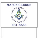 Masonic Lodge Yard Sign