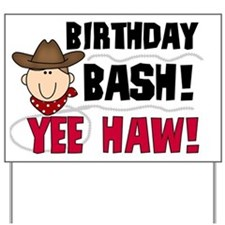 Cowboy Birthday Bash Yard Sign