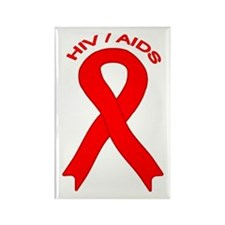 AIDS/HIV Rectangle Magnet (100 pack)