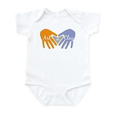 Art in Clay / Heart / Hands Infant Bodysuit