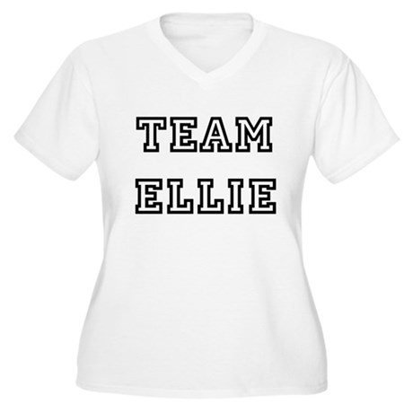 TEAM ELLIE Women's Plus Size V-Neck T-Shirt