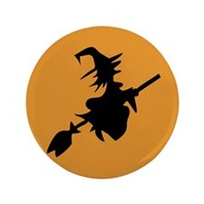 "Flying Witch 3.5"" Button (100 pack)"