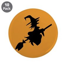"Flying Witch 3.5"" Button (10 pack)"