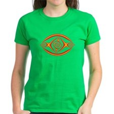 Fractal Eye T-Shirt (black) (ladies)