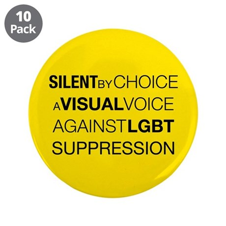 "Silent By Choice 3.5"" Button (10 pack)"