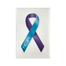 Purple/Teal Rectangle Magnet (10 pack)