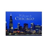 Chicago welcome souvenir magnet