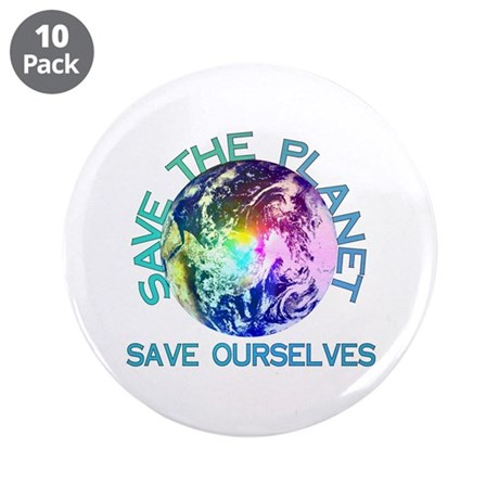 "Save The Planet 3.5"" Button (10 pack)"
