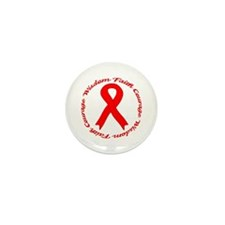 Faith Courage Wisdom Mini Button (100 pack)