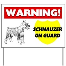 Warning Schnauzer On Guard Yard Sign