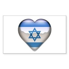 Israel Heart Rectangle Decal