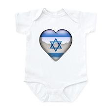 Israel Heart Infant Bodysuit