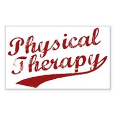 Physical Therapy Rectangle Decal