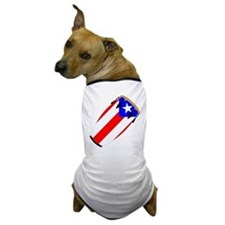 Conga Puerto Rico Flag Dog T-Shirt