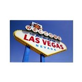 Las Vegas welcome souvenir magnet