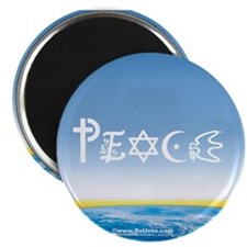 "Peace On Earth at Sunrise 2.25"" Magnet (10 pack)"