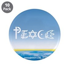 "Peace On Earth at Sunrise 3.5"" Button (10 pack)"