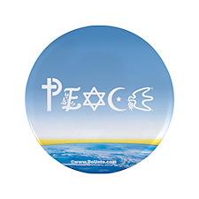 "Peace On Earth at Sunrise 3.5"" Button"