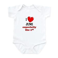 June 1st Infant Bodysuit