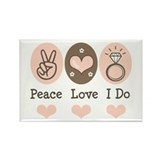Peace Love I Do Bride Rectangle Magnet