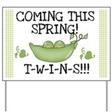 Twins Coming This Spring Yard Sign