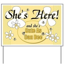 She's Here New Baby Girl Yard Sign
